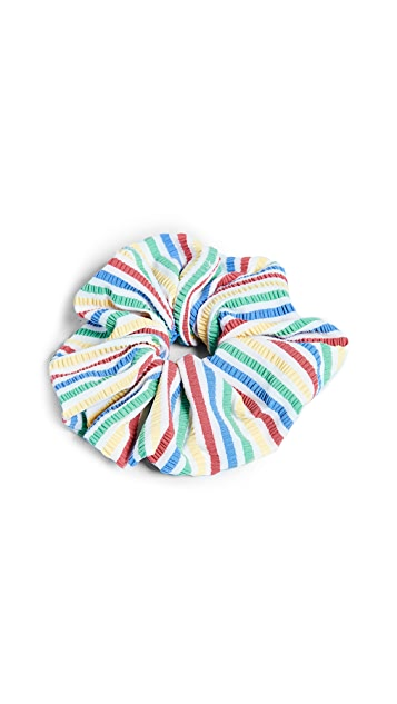 Solid & Striped The Multi Seersucker Scrunchie