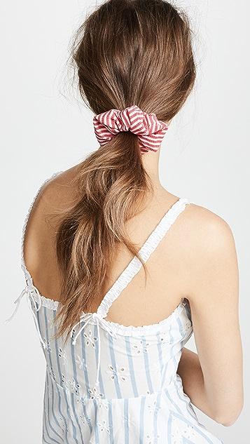 Solid & Striped The Red Seersucker Scrunchie