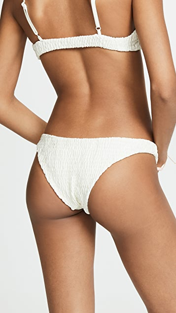 Solid & Striped The Rachel Ruched Bikini Bottoms