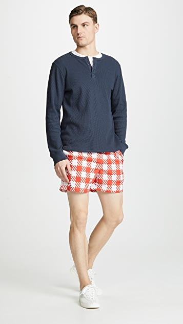 Solid & Striped The Classic Red Gingham Trunks
