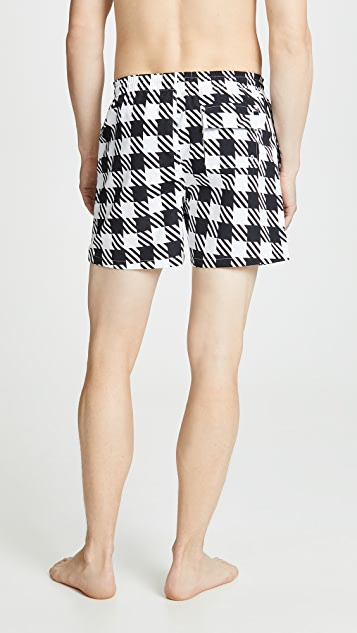 Solid & Striped The Classic Gingham Swim Trunks