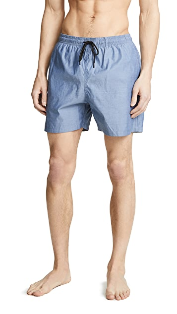 Solid & Striped The Classic Chambray Trunks