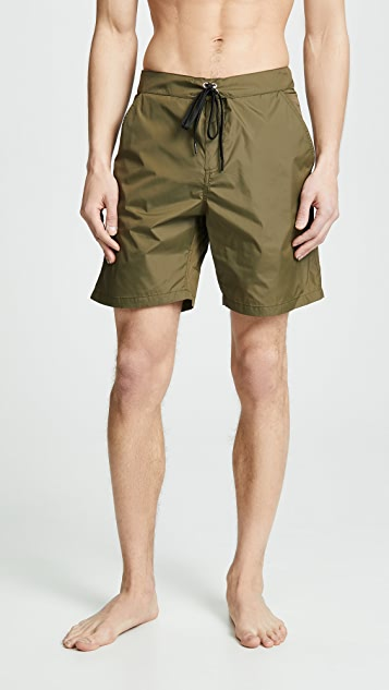 Solid & Striped The Longboard Olive Tech Trunks