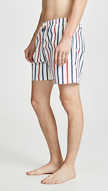 Solid & Striped The Classic Venice Stripe Swim Trunks