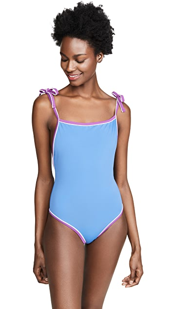 Solid & Striped The Poppy Tie One Piece Swimsuit