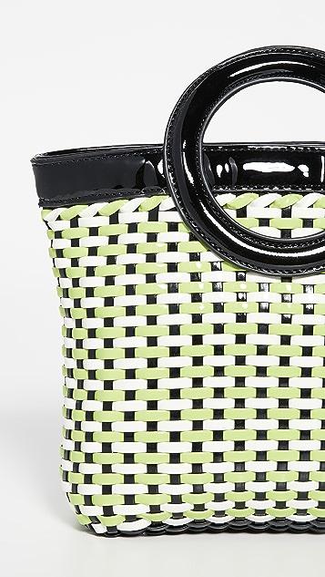 Solid & Striped 编织圆圈手提袋