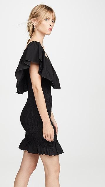 Solid & Striped Mini Ruffle Dress