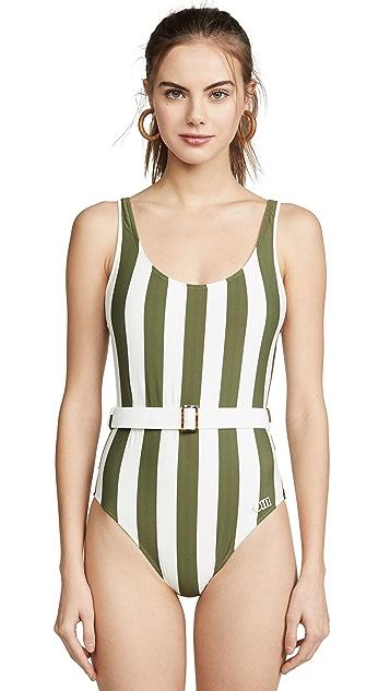 Solid & Striped Сплошной купальник Anne Marie с поясом