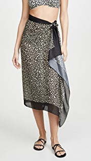 Solid & Striped Leopard Pareo