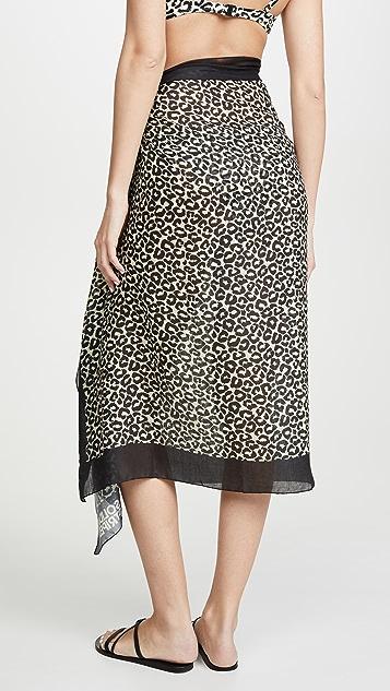 Solid & Striped Парео с леопардовым принтом
