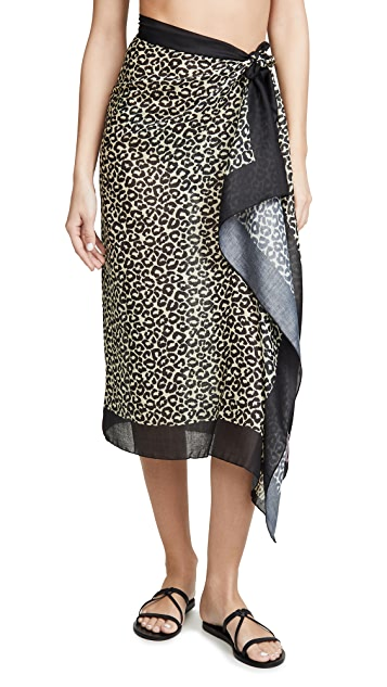 Solid & Striped 豹纹包布裙