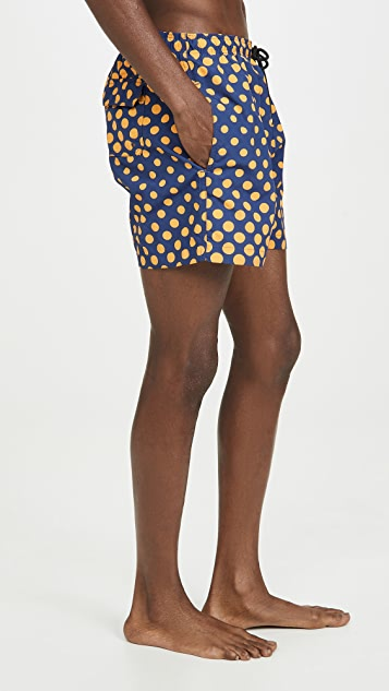Solid & Striped The Classic Ombre Dot Trunks