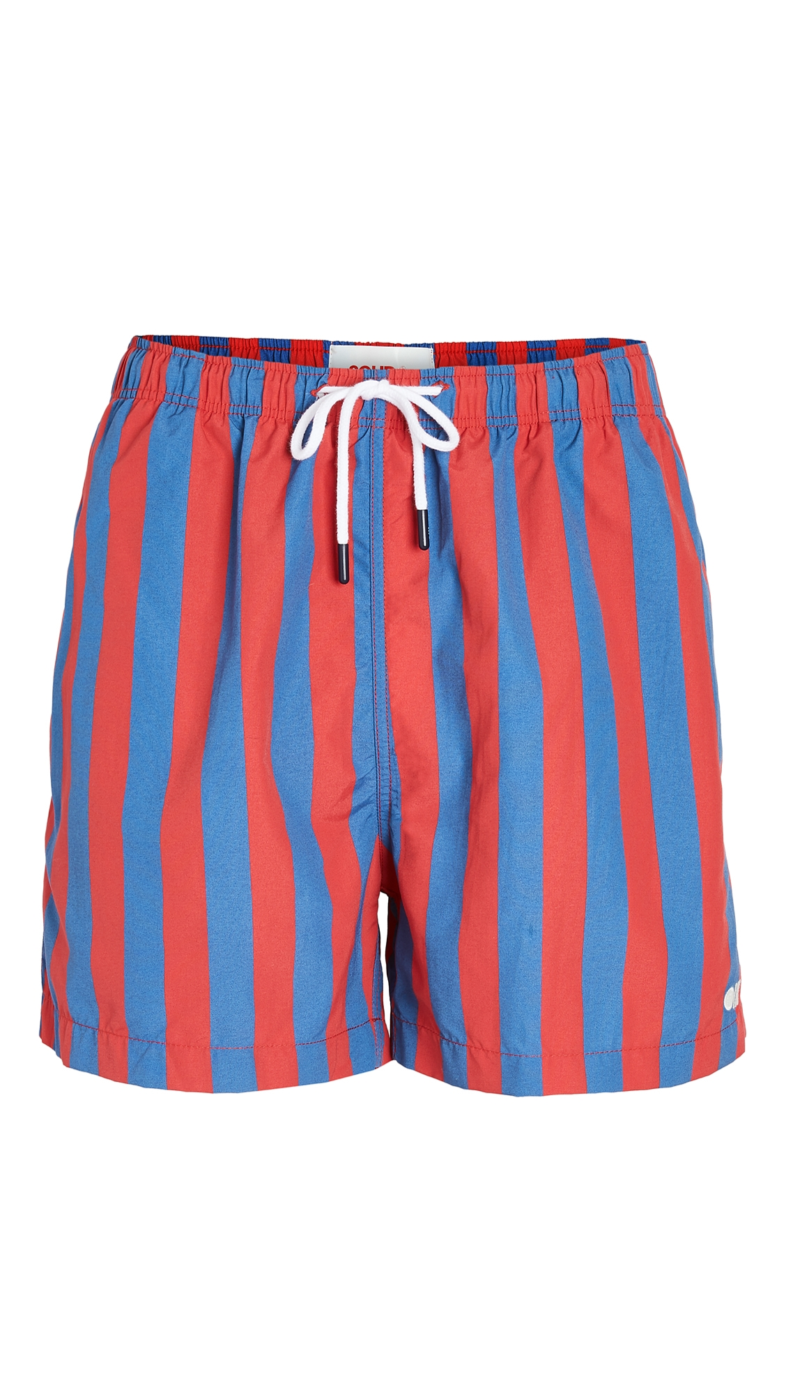 The Classic Striped Swim Trunks