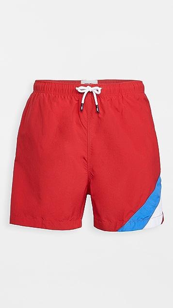 Solid & Striped The Classic Poppy Colorblock Swim Trunks