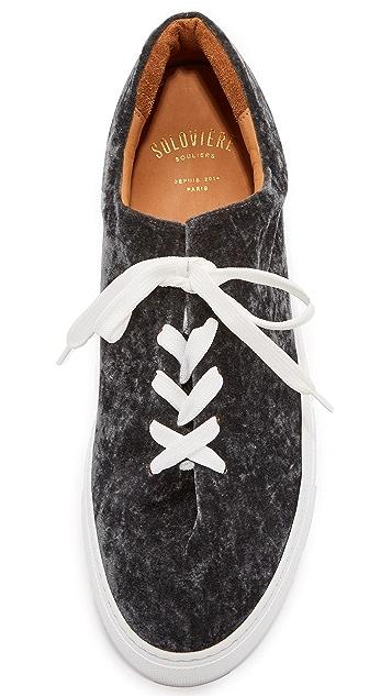 Soloviere Herve En Ville Velvet Oxford Sneakers