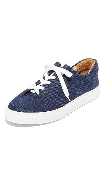Soloviere Herve En Ville Denim Oxford Sneakers