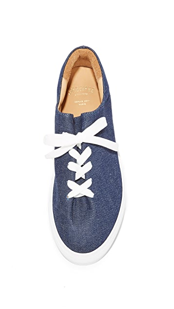 Soloviere Herve En Ville Denim Oxford Sneakers