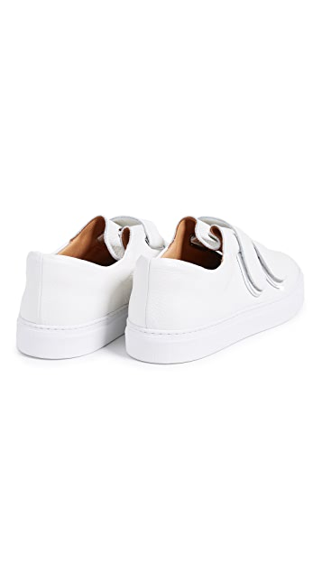 Soloviere Rudy Leather Double Strap Velcro Sneakers