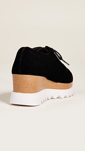 Sol Sana Бархатные ботинки на шнурках Megan на танкетке
