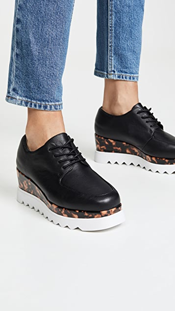 Sol Sana Ботинки на шнурках Megan на танкетке