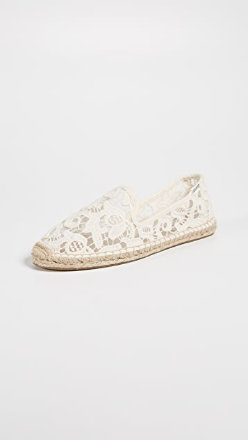 Soludos Tulip Lace Smoking Slipper Espadrilles ...