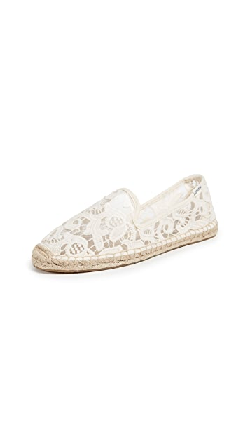 Soludos Tulip Lace Smoking Slipper Espadrilles