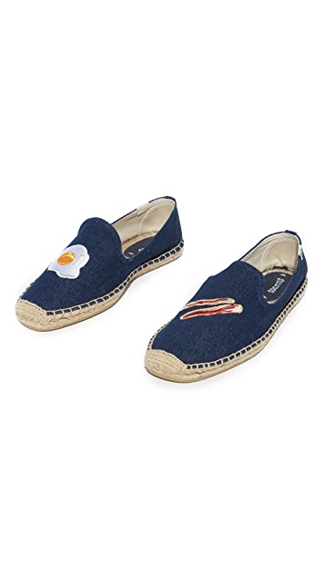 Soludos Eggs & Bacon Smoking Slippers