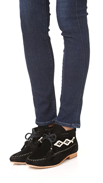 Soludos Moccasin Embroidered Booties