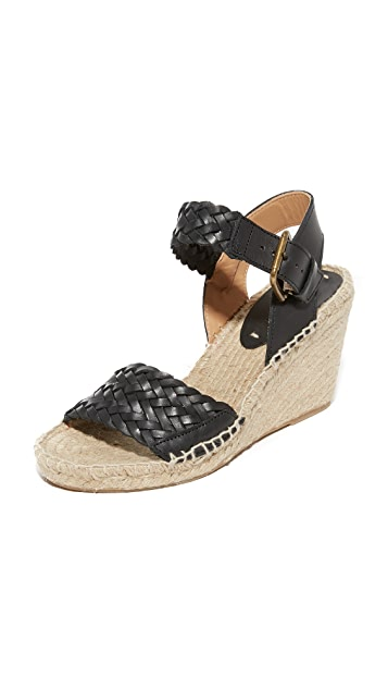 f8b92519fda Woven Leather Wedge Espadrilles