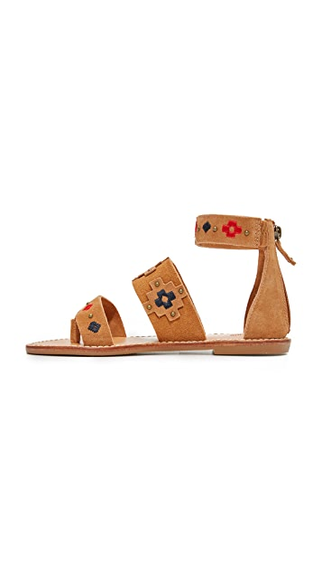 Soludos Embroidered Sandals