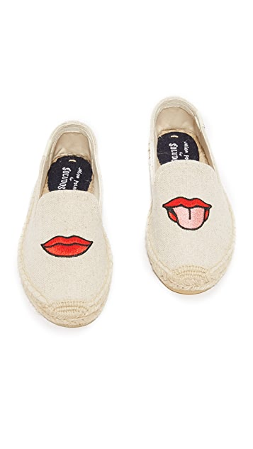 Soludos Lips Smoking Slippers
