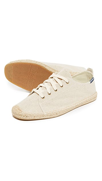 Soludos Canvas Lace Up Sneakers