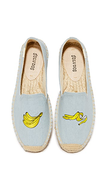 Soludos Banana Platform Smoking Slippers