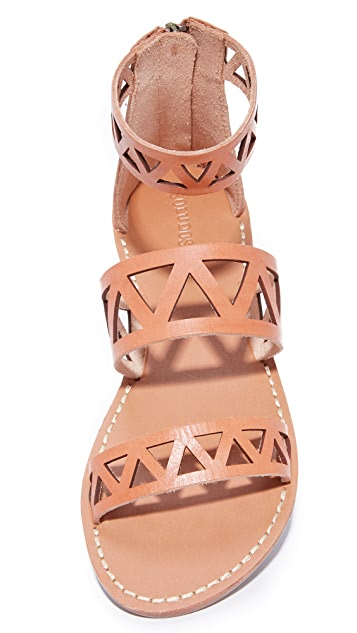 Soludos Geo Laser Cut Band Sandals