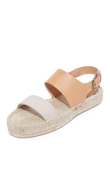 Soludos Bicolor Platform Sandals