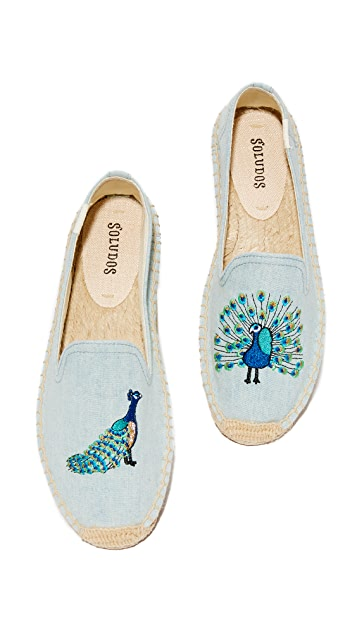 Soludos Peacock Smoking Slippers