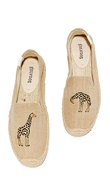 Soludos Giraffe Smoking Slippers