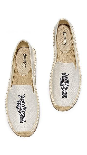 Soludos Zebra Smoking Slippers