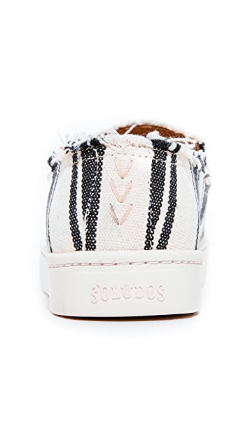 Soludos Striped Slip On Sneakers
