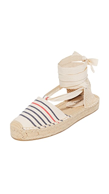 Soludos Striped Gladiator Sandals