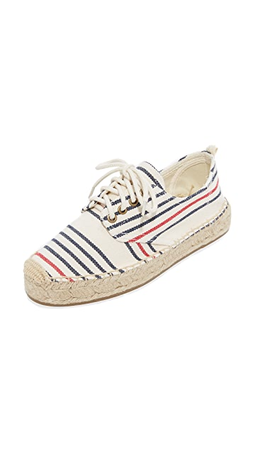 Soludos Oxford Lace Up Platform Espadrilles