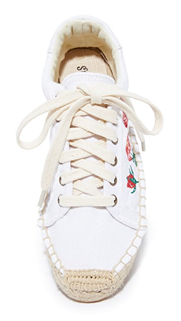 Soludos Rose Platform Tennis Sneakers