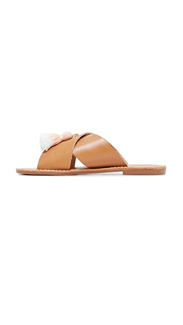 Soludos Tassel Crisscross Sandals