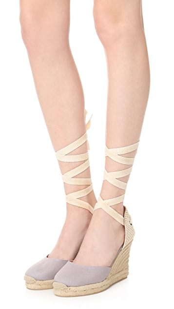 Soludos Gladiator Tall Wedge Espadrilles