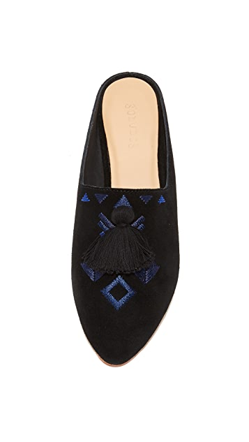 Soludos Palazzo Tassel Mules
