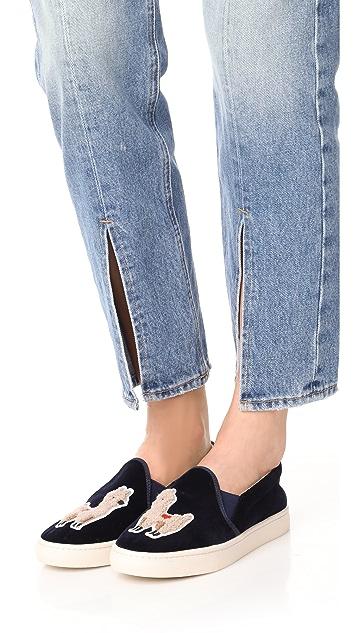 Soludos Velvet Llama Slip On Sneakers