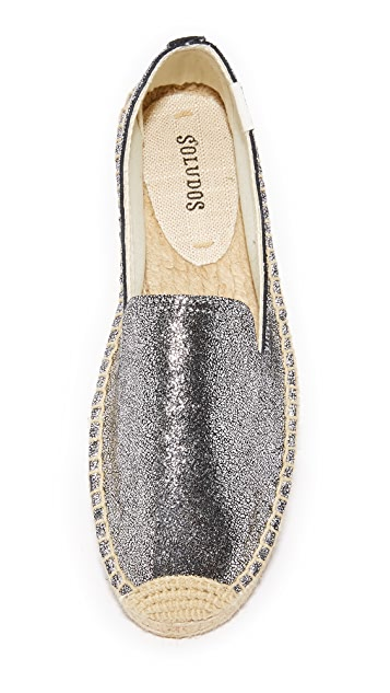 Soludos Metallic Platform Smoking Slippers