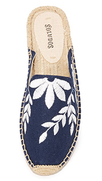 Soludos Embroidered Floral Mules