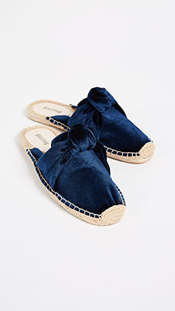 Soludos Knotted Velvet Mules