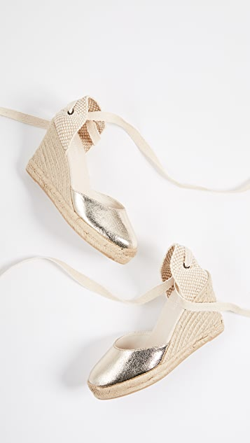 Soludos Metallic Tall Wedges